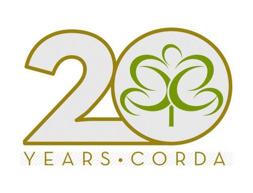 CORDA 20 Year Anniversary Logo